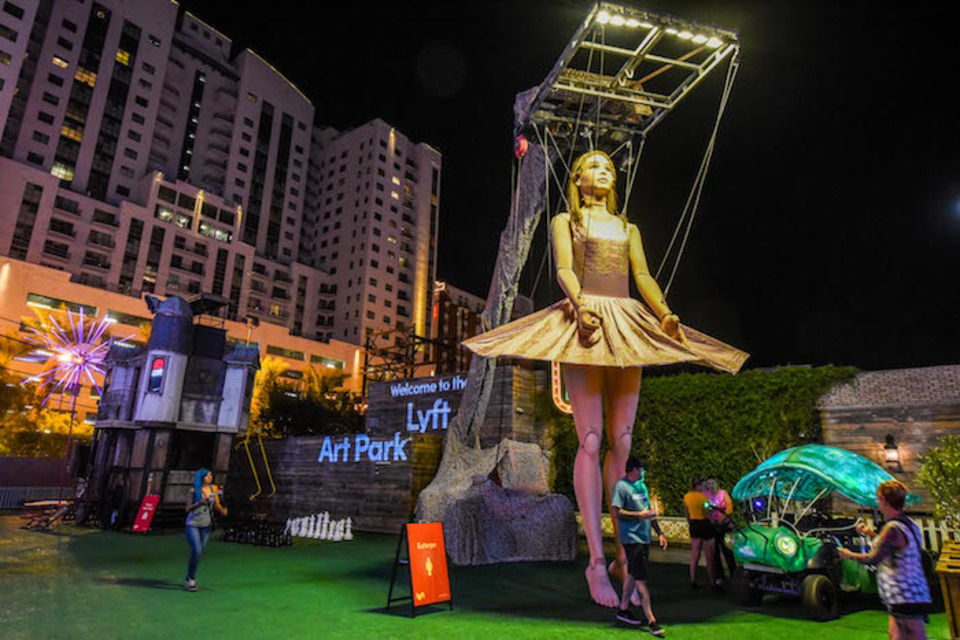 Why Lyft Brought a 30-Foot Ballerina to Downtown Las Vegas